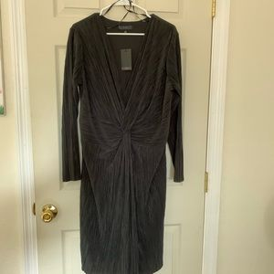 ELOQUII 🖤 Knot Front Accordion Dress ⚫️ NWT
